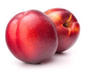 Nectarine fruit isolated on white background cutout  — Stock Photo