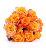 Yellow rose flower bouquet isolated on white background cutout — Stock Photo