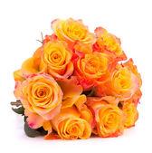желтый цветок розы букет, изолированные на белом фоне вырез — Стоковое фото