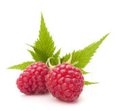 Sweet raspberry isolated on white background cutout — Stock Photo