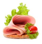 Sandwich with pork — Stock Photo
