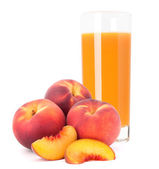 Peach fruit juice in glass  — Stock Photo