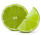 Citrus lime fruit isolated on white background cutout  — ストック写真