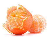 Peeled tangerine — Stock Photo