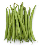 Green beans handful — Stock Photo