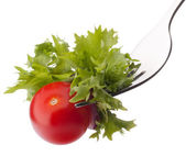 Fresh salad and cherry tomato — Stock Photo