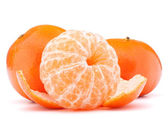 Peeled tangerine or mandarin fruit  — Stock Photo