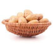 Potato in basket — Stock Photo