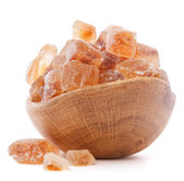 Brown cane caramelized lump sugar — Stockfoto