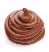 Chocolate cream swirl — Stok fotoğraf