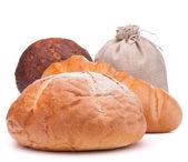 Fresh bread and flour sack — Stock Photo