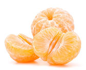 Peeled tangerine — Stock Photo
