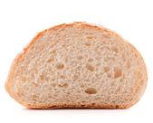 Hunk or slice of fresh white bread — Stock Photo
