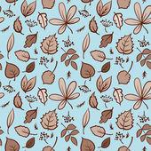 Naadloze herfstbladeren structuurpatroon. vector achtergrond — Stockvector