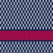 Style Seamless Marine Blue White Red Color Knitted Vector Patter — Wektor stockowy #12425488