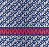 Modèle sans soudure marine bleu blanc rouge couleur tricoté vecteur bagout — Vecteur
