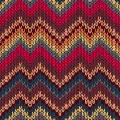 Style Seamless Knitted Pattern — Stock Vector