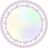 Ornamental Round Lace Border Pattern, Circle Background — Stock Vector