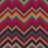 スタイルのシームレスなニット パターン — ストックベクタ