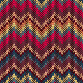 Style Seamless Knitted Pattern — Vector de stock