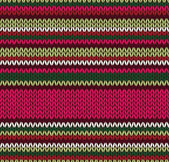 Vzor bezešvé pletené styl. červená růžová barva zelená bílé illus — Stock vektor