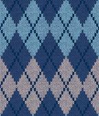 Styl bezešvé modré béžové tyrkysové barvy mužský pletený vzor — Stock vektor