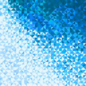 Abstract Lights Blue White Winter Sky or Snow Background. Pixel — Stock Vector