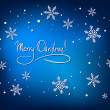 Royalty-Free Stock Vektorgrafik: Christmas Abstract Card with White Snowflakes on Blue Background