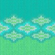 Royalty-Free Stock Vector Image: Style seamless green blue white color knitted pattern
