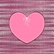 Vector de stock : Vintage Heart Shape Design with Knitted Pattern