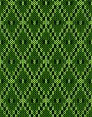 Knit woolen seamless jacquard ornament texture. Fabric Dark Gree — Stok Vektör