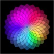 Rainbow style vector wheel. Color Creative Abstract Flower — Stock vektor