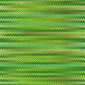 Stil dikişsiz örgü melanj desen. bahar yeşil renk vecto — Stok Vektör
