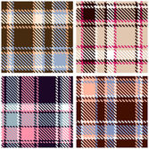 Seamless Checkered Plaid Pattern, Vector Set — Stock Vector