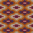 Royalty-Free Stock Vectorielle: Style Seamless Knitted Pattern. Blue Yellow Red Orange White Col