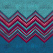 Knitted Seamless Fabric Pattern, Beautiful  Red Pink Knit Textur — Векторная иллюстрация