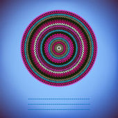 Couvrir le fond avec un motif tricoté rond ornemental, style ci — Vecteur