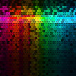 Multicolor Rainbow Abstract Lights Disco Digital Background — Stock Vector #27341695