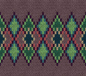 Seamless color knitted ornament pattern — 图库矢量图片