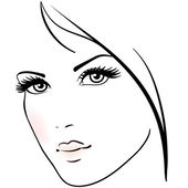 Beautiful woman face — Stock Vector
