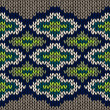 Knit Seamless Jacquard Ornament Texture. Fabric Color Background — Stockvectorbeeld