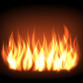 Burning fire flame — Stock Vector