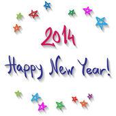Szczęśliwego nowego roku strony napis — Wektor stockowy
