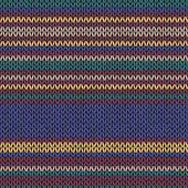 Sans couture couleur ethnique rayé motif tricoté — Vecteur