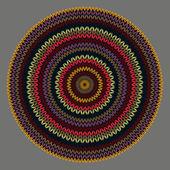 Tarzı daire basit renkli vektör iğne işi arka plan, süsleme — Stok Vektör