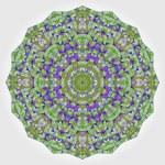 Abstract colorful circle backdrop. Geometric vector mandala. Mos — Stock Vector