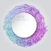 White Paper Sticker Vector Frame. Grunge Retro background. Vinta — Stock vektor