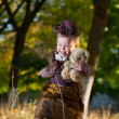 Little lady in park — Stock Photo