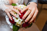 The bride's hands — Stock Photo