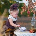Girl in costume — Stock Photo